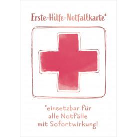 Erste-Hilfe-Notfallkarte*