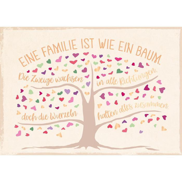 Eine Familie ist wie ein Baum